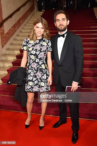 Producer Dimitri Rassam and his wife Masha Novoselova attend the Cesar Film Award 2016 at Theatre du Chatelet on February 26 2016 in Paris France