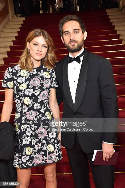 Producer Dimitri Rassam and his wife Masha Novoselova attend the Cesar Film Award 2016 at Theatre du Chatelet on February 26, 2016 in Paris, France.