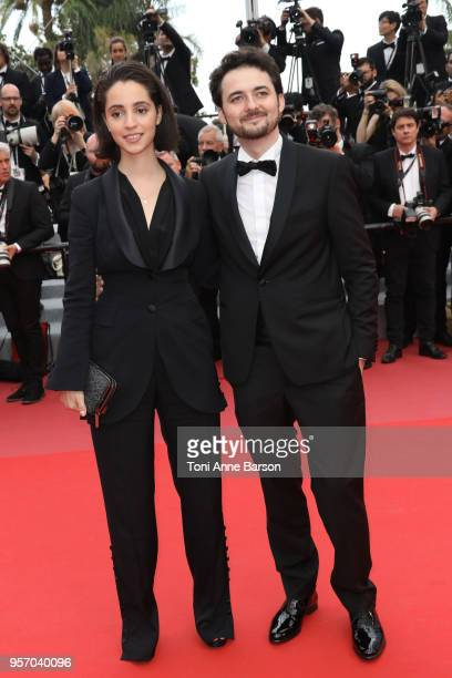 Producer Dina Emam and Director AB Shawky attend the screening of 'Yomeddine' during the 71st annual Cannes Film Festival at Palais des Festivals on...