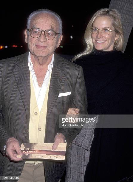 Producer Dino De Laurentiis and wife Martha Schumacher attend the 'Amistad' Beverly Hills Premiere on December 8 1997 at Samuel Goldwyn Theatre in...