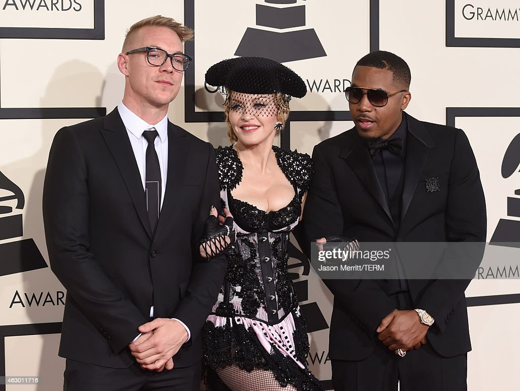 Diplo Singer >> Producer Diplo Singer Madonna And Rapper Nas Attend The