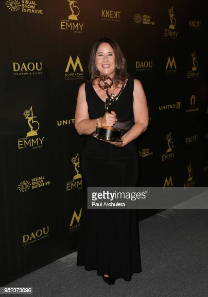 Producer / Director Anne Fox attends the press room at the 45th Annual Daytime Creative Arts Emmy Awards at the Pasadena Civic Auditorium on April 27...