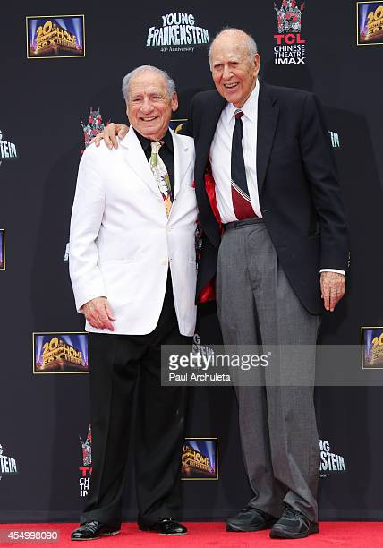 Producer / Director Mel Brooks and Direcxtor / Actor Carl Reiner attend the Hands and Footprint Ceremony for Mel Brooks at the TCL Chinese Theatre on...