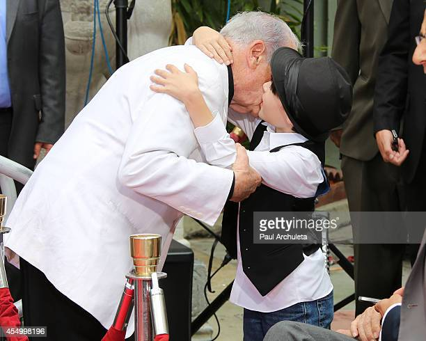 Producer / Director Mel Brooks and his grandson Henry Michael Brooks attend the Hands and Footprint Ceremony for Mel Brooks at the TCL Chinese...