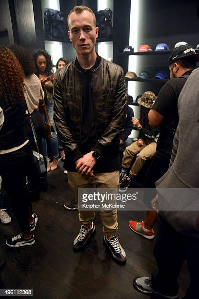 """Producer DJ Skee attends the listening party for Currensy's upcoming album """"Canal Street Confidential"""" at The Hundreds on November 6, 2015 in Los..."""