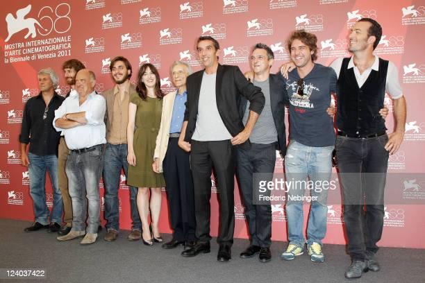 Producer Domenico Procacci and actors Stefano Scherini, Ugo De Cesare, Luca Marinelli, Anna Bellato, Roberto Herlitzka, director Gian Alfonso...