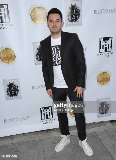 Producer Dominik Jurczek arrives for the Premiere Of Blood Feast held at Ahrya Fine Arts Theater on April 6 2018 in Beverly Hills California