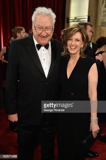 Producer Don Mischer and President of DisneyABC Television Group Anne Sweeney arrive at the Oscars at Hollywood Highland Center on February 24 2013...