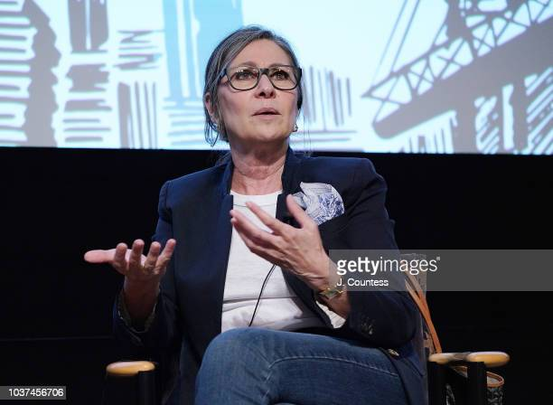 Producer Donna Gigliotti speaks during the Producers Fireside Chat on Day 3 of the 2018 Urban World Film Festival at the HBO Theater on September 21...