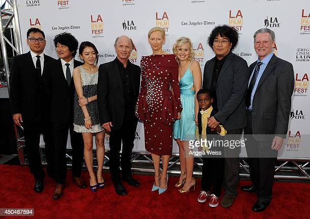 Producer Dooho Choi actors Kangho Song Ahsung Ko Ed Harris Tilda Swinton Alison Pill Marcanthonee Reis director Joonho Bong and writer Kelly...