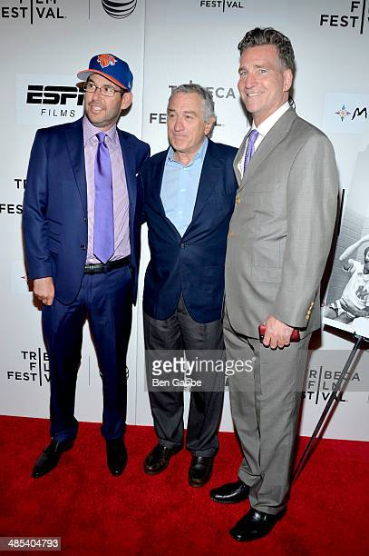 Producer Doug Ellin actor Robert De Niro and producer Jim Lefkowitz attend the Tribeca/ESPN Sports Film Festival Gala When The Garden Was Eden during...