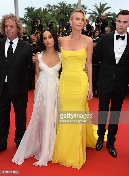 Producer Doug Mitchell Zoe Kravitz Charlize Theron and Nicholas Hoult attend the Mad Max Fury Road Premiere during the 68th annual Cannes Film...