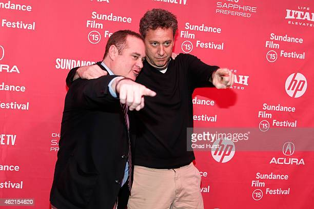 Producer Douglas Tirola and entertainment lawyer John Sloss attend the Drunk Stoned Brilliant Dead The Story Of The National Lampoon Premiere during...