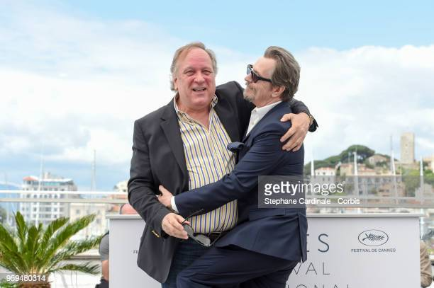 Producer Douglas Urbanski and actor Gary Oldman attend RendezVous With Gary Oldman Photocall during the 71st annual Cannes Film Festival at Palais...