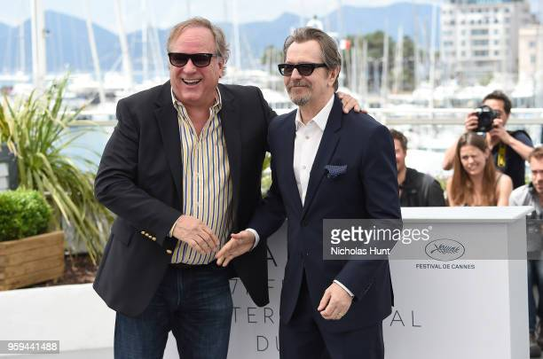 Producer Douglas Urbanski and actor Gary Oldman attend the RendezVous with Gary Oldman Photocall during the 71st annual Cannes Film Festival at...