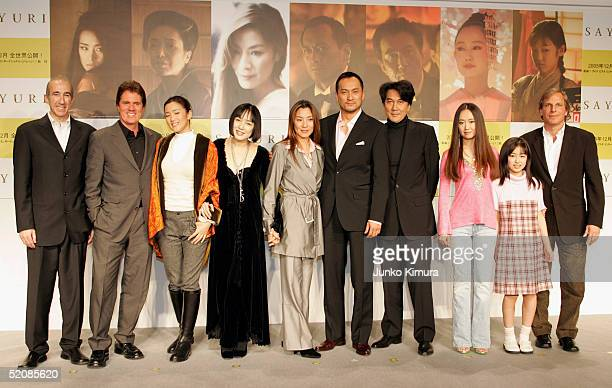 Producer Douglas Wick actresses Gong Li Kaori Momoi Michelle Yeoh actors Ken Watanabe Koji Yakusho actress Yoki Kudo and Suzuka Ogo and producer Lucy...
