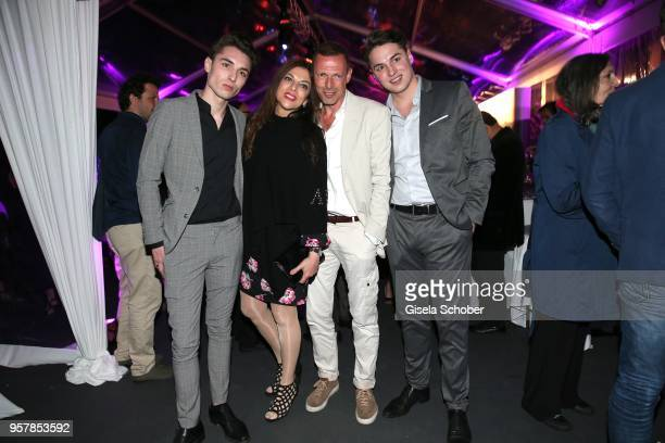 Producer Dr Alice Brauner and her son Ben Brauner husband Michael Zechbauer and son David Brauner at the German Films Reception during the 71st...