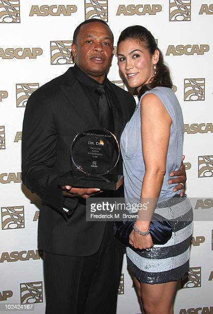 Producer Dr Dre and his wife Nicole Threatt attend the 23rd annual ASCAP Rhythm and Soul Music Awards at the Beverly Hilton Hotel on June 25 2010 in...