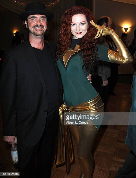 Producer Dr Harry Kloor and cosplayer Ashlynne Dae as Phoenix attend the After Party for the 40th Annual Saturn Awards held at on June 26 2014 in...