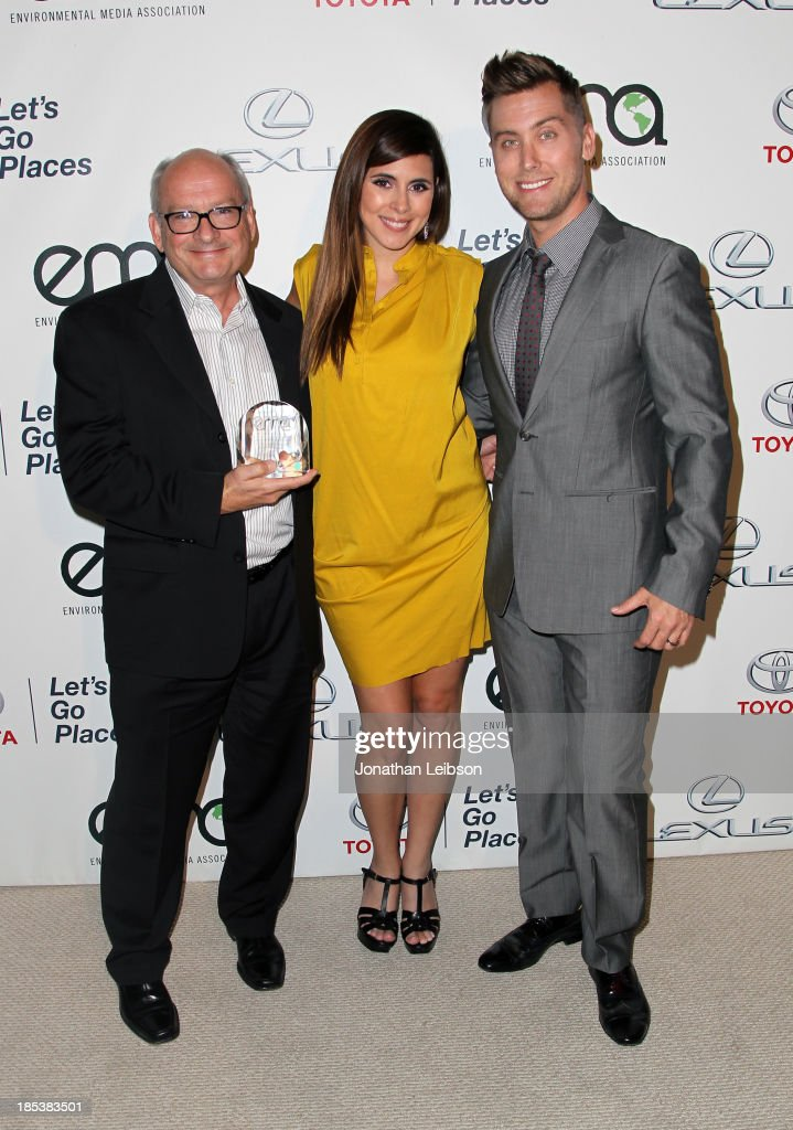 Producer Ed Yeage, Actress Jamie-Lynn Sigler, and TV personality Lance Bass attend the 23rd Annual Environmental Media Awards presented by Toyota and Lexus at Warner Bros. Studios on October 19, 2013 in Burbank, California.