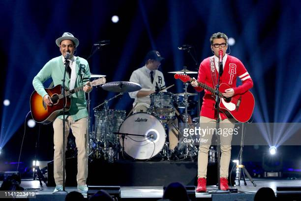 Producer Eddie and Bobby Bones of Bobby Bones and the Raging Idiots perform onstage during the 2019 iHeartCountry Festival Presented by Capital One...