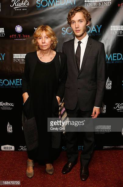 Producer Elda Ferri and actor Toby Regbo attend the 'Someday This Pain Will Be Useful To You' New York Screening at Village East Cinema on October 5...