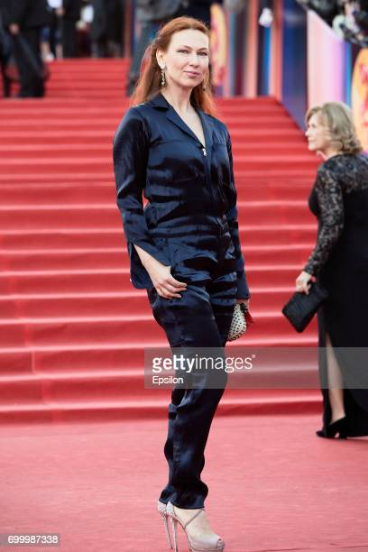 Producer Elena Romanova attends opening of the 39th Moscow International Film Festival outside the Karo 11 Oktyabr Cinema on June 22 2017 in Moscow...