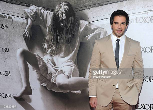 Producer Eli Roth aarrives at the screening of Lionsgate's The Last Exorcismat the Arclight Cinemas on August 24 2010 in Hollywood California
