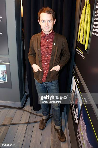 Producer Elijah Wood attends the Eddie Bauer Adventure House during the 2016 Sundance Film Festival at Village at The Lift on January 22 2016 in Park...