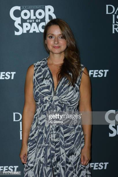 Producer Elisa Lleras attends the 2019 Beyond Fest opening night premieres of 'Color Out Of Space' and 'Daniel Isn't Real' at the Egyptian Theatre on...