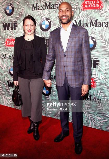 Producer Elisa Pugliese and actor KeeganMichael Key attends the tenth annual Women in Film PreOscar Cocktail Party presented by Max Mara and BMW at...
