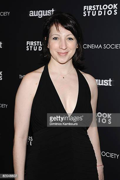 Producer Elisa Pugliese attends the screening of August at Tribeca Grand Screening Room on July 9 2008 in New York City