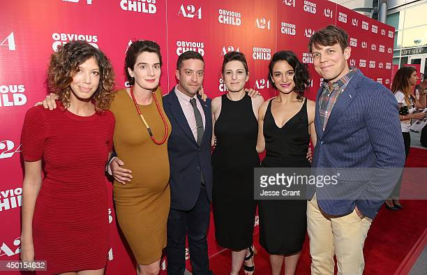 Producer Elisabeth Holm actress Gaby Hoffmann actor Gabe Liedman director Gillian Robespierre actress Jenny Slate and actor Jake Lacy attend the...