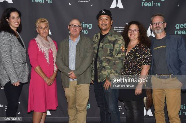 Producer Elise Pearlstein chicken farmer and film subject Carole Morison director Robert Kenner chef Roy Choi radio host Evan Kleiman and Food...