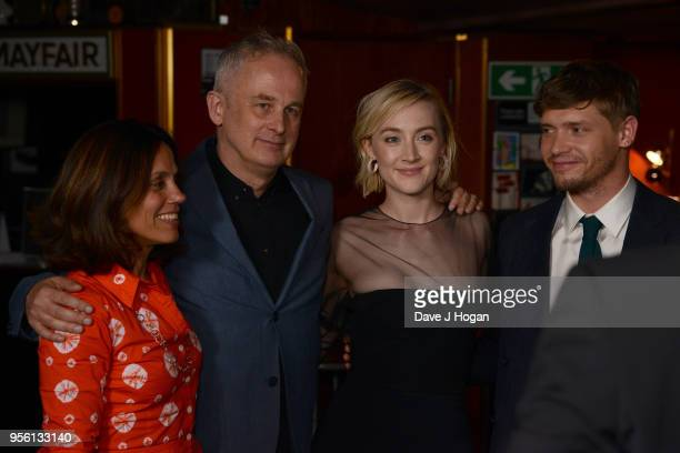 Producer Elizabeth Karlsen director Dominic Cooke Saoirse Ronan and Billy Howle attend a special screening of 'On Chesil Beach' at The Curzon Mayfair...
