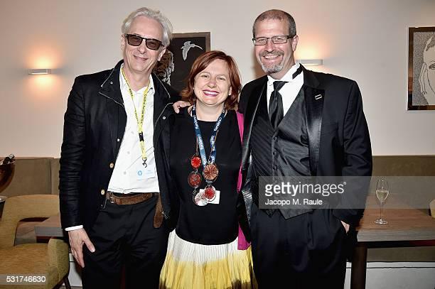 Producer Elliot Grove Director BFI London Film Festival Clare Stewart and Raindance Film Festival's Elliot Grove attend IMDb's 2016 Dinner Party In...