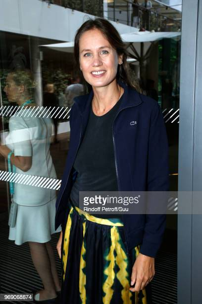 Producer Eloise Lang attends the 2018 French Open Day Twelve at Roland Garros on June 7 2018 in Paris France