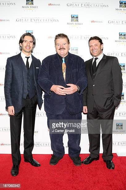 Producer Emanuel Michael actor Robbie Coltrane and producer David Faigenblum attend the New York premiere of Charles Dickens' Great Expectations at...