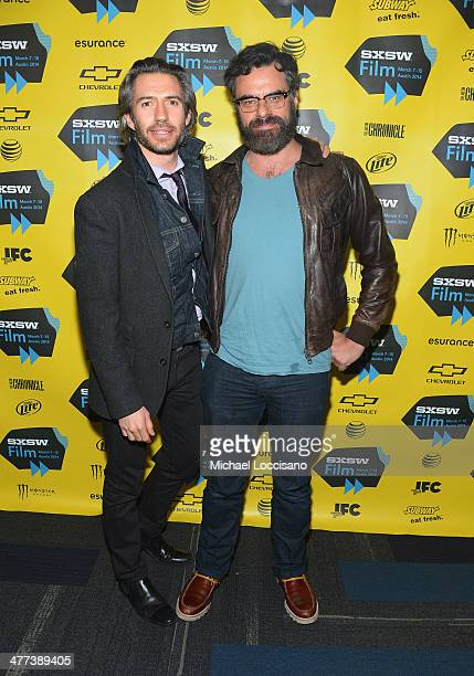 """Producer Emanuel Michael and co-star/co-filmmaker Jemaine Clement attend the """"What We Do In The Shadows"""" premiere during the 2014 SXSW Music, Film +..."""