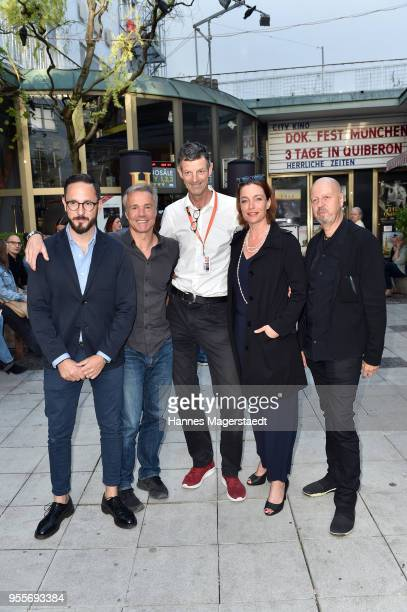 Producer Emanuel Rotstein Hannes Jaenicke DOKfest festival director Daniel Sponsel Aglaia Szyszkowitz and HistoryChannelCEO Andreas Weinek attend a...