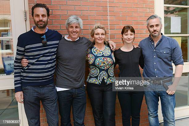 Producer Emile Sherman director John Curran author Robyn Davidson actress Mia Wasikowska and producer Iain Canning attend a screening for the film...