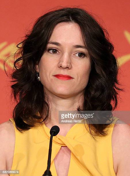 Producer Emilie Lesclaux attends the 'Aquarius' Press Conference during the 69th annual Cannes Film Festival at the Palais des Festivals on May 18...