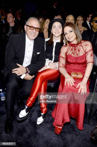 Producer Emilio Estefan Emily Marie Consuelo and singer Gloria Estefan attend the 56th GRAMMY Awards at Staples Center on January 26 2014 in Los...