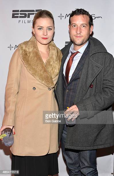Producer Emily Isacson and actor Chris Marquette attend the When the Garden Was Eden Premiere after party during the 2014 Tribeca Film Festival at...