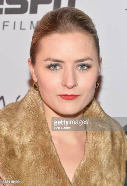 Producer Emily Isacson attends the When the Garden Was Eden Premiere after party during the 2014 Tribeca Film Festival at Hudson Terrace on April 17...