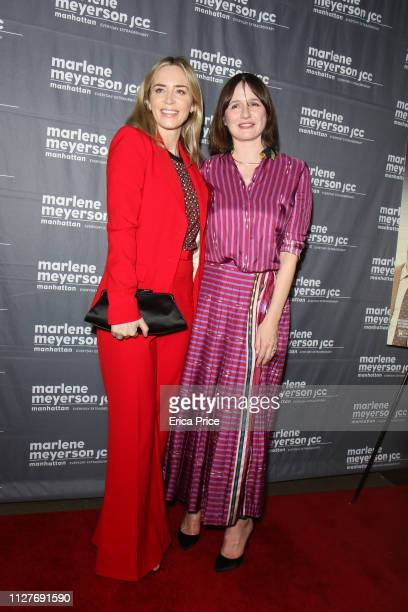 Producer Emily Mortimer and Emily Blunt attend 'To Dust' New York Screening at The JCC on February 05, 2019 in New York City.