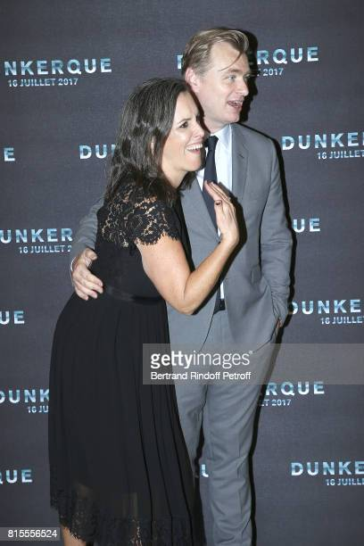 Producer Emma Thomas and Director Christopher Nolan attend Dunkirk Premiere at Ocine on July 16 2017 in Dunkerque France