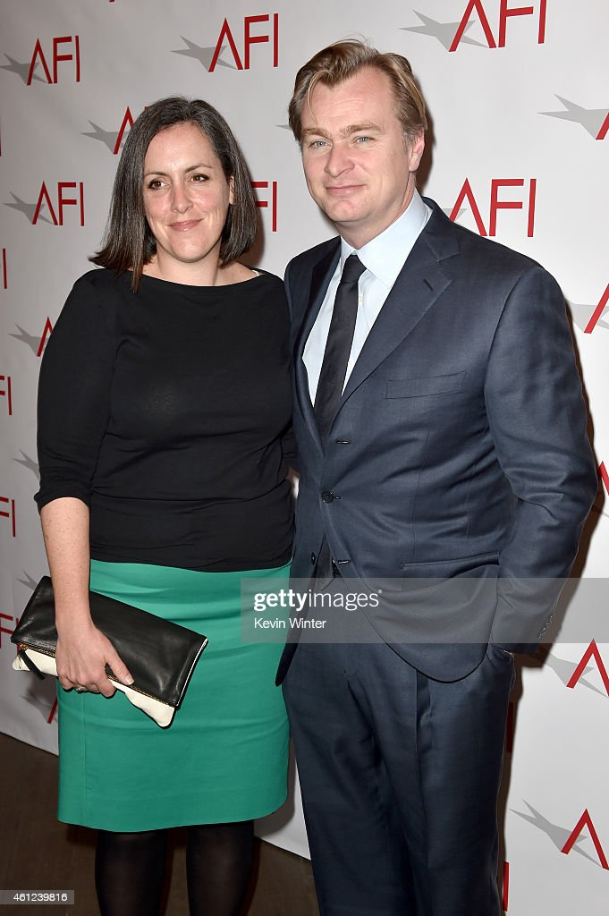 Producer Emma Thomas (L) and director Christopher Nolan attend the 15th Annual AFI Awards at Four Seasons Hotel Los Angeles at Beverly Hills on January 9, 2015 in Beverly Hills, California.