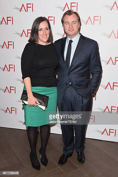 Producer Emma Thomas and filmmaker Christopher Nolan attend the 15th Annual AFI Awards at Four Seasons Hotel Los Angeles at Beverly Hills on January...