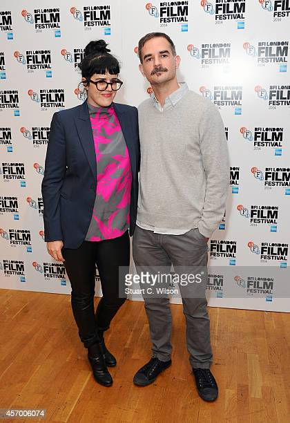 Producer Emmy Ellison and director Peter Sattler attend the red carpet arrivals of Camp XRay during the 58th BFI London Film Festival at Odeon West...
